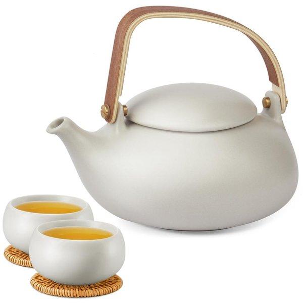 Epitex Exclusive Outdoor Tea Set | One tea pot with 2 cups (Cobble Stone series)