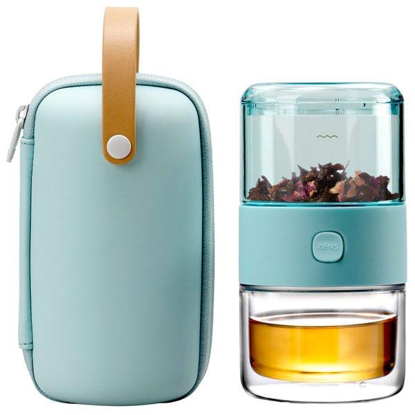 Epitex Tritan Travel Tea Set | Tea Cup | Fruit Cup | Tea Holder
