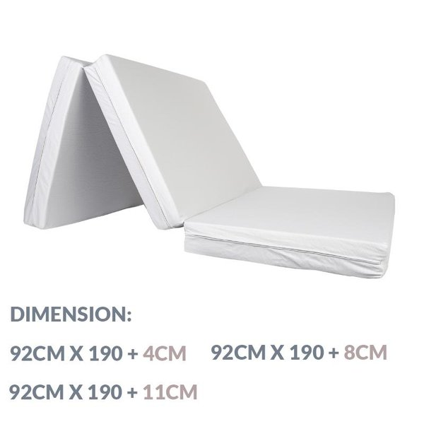 Epitex 3 Fold Memory Foam Mattress | 4cm | 8cm | 11cm | Bed