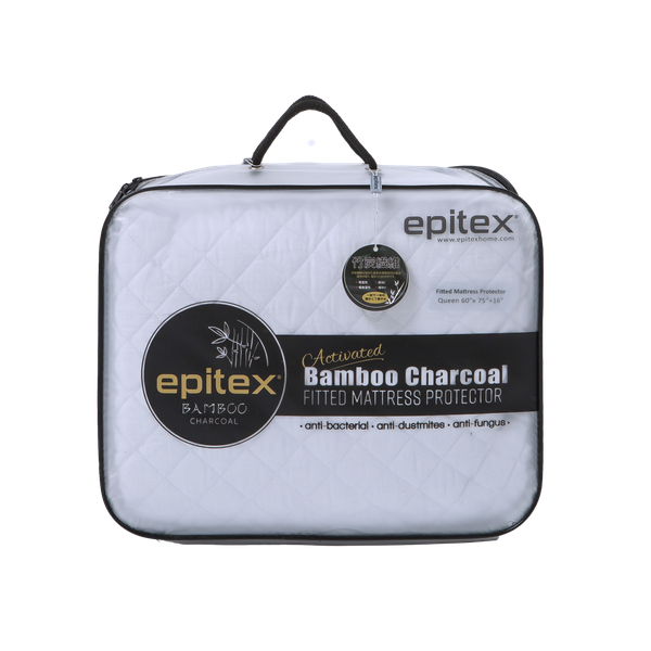 Epitex Bamboo Charcoal Fitted Mattress Protector