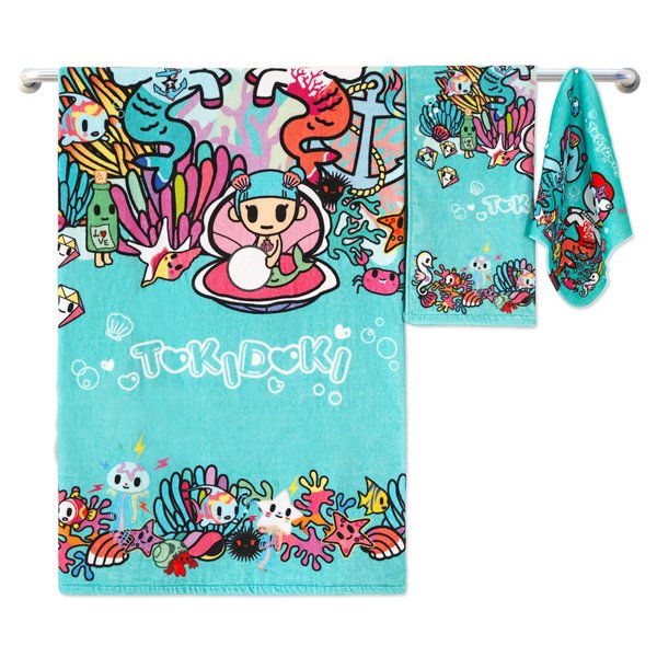 Tokidoki TK601-3 Bath Towel (3 Sizes) | Face Towel | Hand Towel | Gym Towel