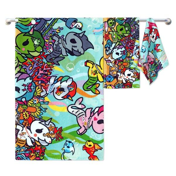 Tokidoki TK601-4 Bath Towel (3 Sizes) | Face Towel | Hand Towel | Gym Towel