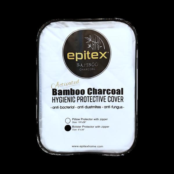 Epitex Bamboo Charcoal Pillow | Bolster Premium Protector