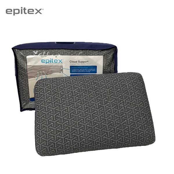 Epitex Charcoal Memory Support Classic Pillow 1+1 Promo