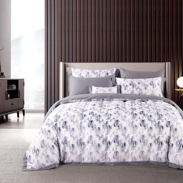 Epitex 1600TC 100% Tencel Printed Homme Collection EHP2203 Fitted Sheet Set