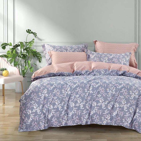 Epitex 1000TC HS1241 Hybrid Botanic Silk Printed Fitted Sheet Set | Bedset