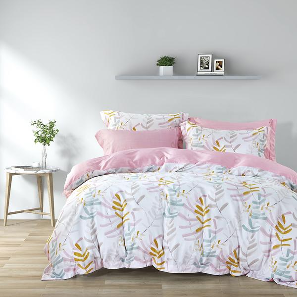 Epitex 1000TC HS1244 Hybrid Botanic Silk Printed Fitted Sheet Set | Bedset