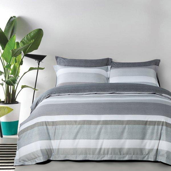 Epitex 1000TC Hybrid Botanic Silk Stripe Bedsheet Set | Randomly Assigned without Quilt Cover